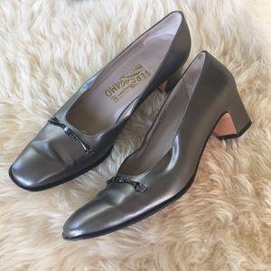 Ferragamo Cosenza heels with Gancini hardware